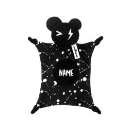 Van pauline - Knuffeldoekje Bear Zwart met Naam of zonder naam