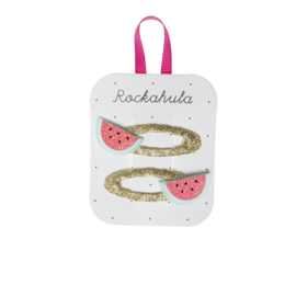 LITTLE WATERMELON GLITTER CLIPS - Rockahula