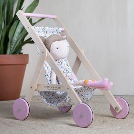 Little Dutch Poppenbuggy - Pink