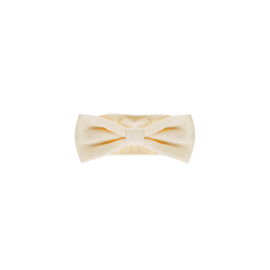 BOW TIE HEADBAND Cream Velvet - HOJ