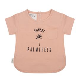 T-shirt Sunset Dusty Coral - Little Indians