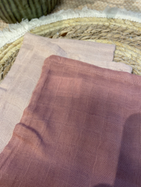 Washandjes Hydrofiel Bamboe - Pale Pink - 3 Stuks - Jollein