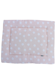 Boxkleed, pink dot/ cream teddy