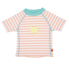 Swim Shirt Short Sleeve Sailor Peach