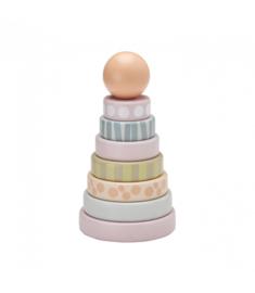 Kid's concept Houten stapelbare ringen Edvin roze
