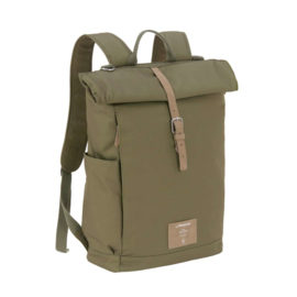 Lässig Rolltop Backpack Diaper Bag, Olive