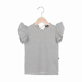 House Of Jamie - Ruffled Tee Little Stripes
