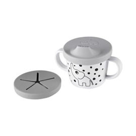 Done by deer - Spout/snack cup, Elphee, grey