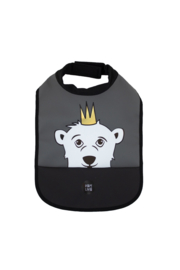 High Neck Bib - Polar Bear Charcoal - Babylivia
