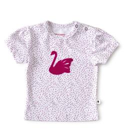 Little Label - baby meisjes shirt korte mouw - pink dots