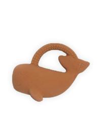 Bijtring rubber Whale caramel - Jollein
