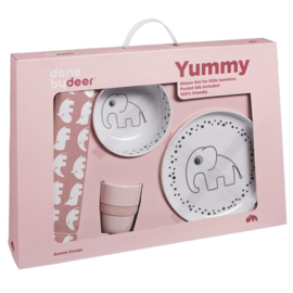 Dinner set  Happy dots powder - DBD