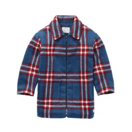 KIDS COAT BLUE CHECK - Sproet & Sprout