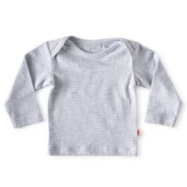 Baby shirt lange mouw Blue stripes - Little Label
