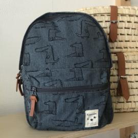 Kidzroom Animal Academy Backpack CROCODILE small