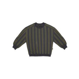Sweatshirt - Moss & Blue Stripes - HOJ