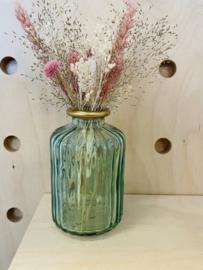 Vaasje met droogbloemen Munt