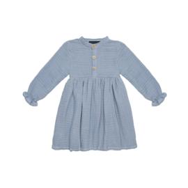 High Waist Dress Blue Fog - House Of Jamie