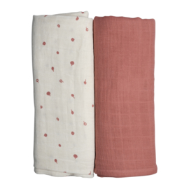 Fabelab Swaddle 2pack 120 x 120 cm | Wild Berry