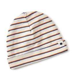 Little Label - baby muts - blue orange stripe