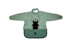 Long Sleeve Bib - Moose Powder Green - Babylivia