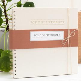 Schoolfotoboek Linnen ivoor  - HOP