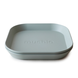 MUSHIE - PLATES SQUARE - SAGE 2PC