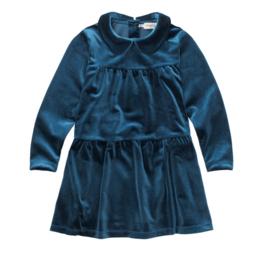 KIDS DRESS VELVET BLUE - Sproet & Sprout