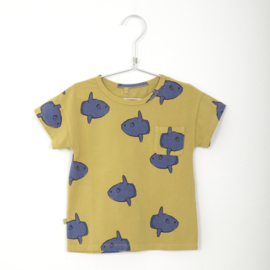 T-Shirt Short Sleeve Moonfishes Sun Yellow - Lotiekids