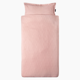 DEKBEDOVERTREK Geometry Jacquard - Powder Pink - HOJ