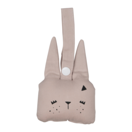 Fabelab - animal rattle bunny mauve