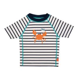 Swim Shirt Short Sleeve Sailor Navy