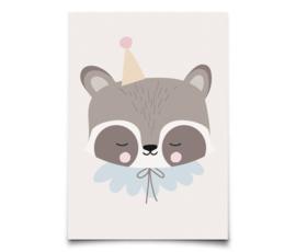 Postcard Circus Raccoon - EEF LILLEMOR