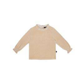 Frill Collar Jumper - Oatmeal Velvet - HOJ