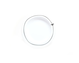 Dinner Plate    Bow - Mint and Mini