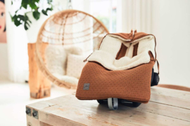Voetenzak voor Autostoel & Kinderwagen - Bliss Knit - Caramel - Jollein