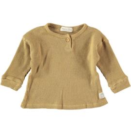 Waffle Knit T-Shirt Mustard - Beans Barcelona