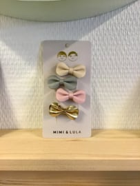 MIMI &  LULA - gracie bow clips pastel gold