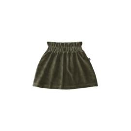 Paperbag Skirt - Moss Rib Velvet - HOJ