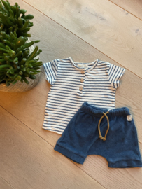 Prawn Striped Cotton Linen Shirt Blue -  Beans Barcelona