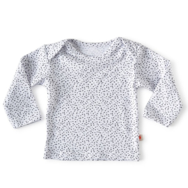 Baby shirt lange mouw White dot - Little Label