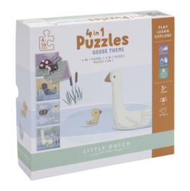 Little Dutch 4-in-1 puzzel Little Goose