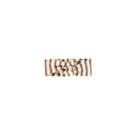 TURBAN HEADBAND Toffee Stripes ( verschillende maatjes )  - House of jamie
