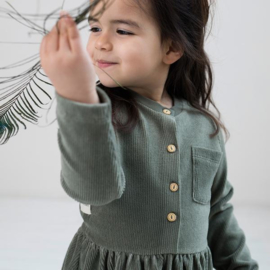 DRESS - CORDUROY GREEN - Little Indians