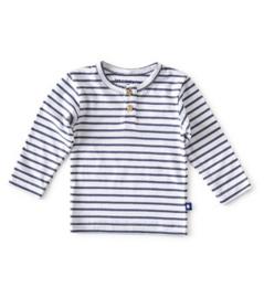 Little Label - grandad shirt baby jongens - blue stripe