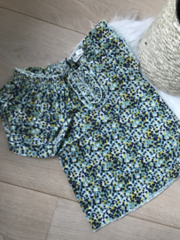 ORGANIC COTTON DRESS FLOWER GREEN + BLOOMER - Riffle