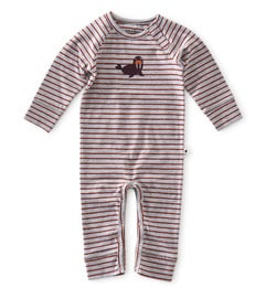 babypakje - striped grey orange red - little label