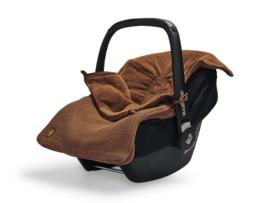 Voetenzak voor Autostoel & Kinderwagen - Basic Knit - Caramel - Jollein