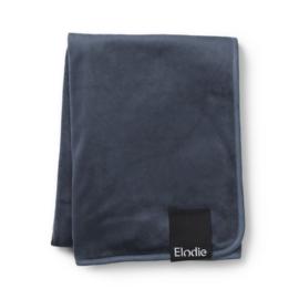 Elodie Pearl Velvet Deken | Juniper Blue