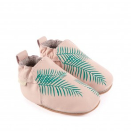 Boumy - RIO | Exotic Leaf - Pastel Pink Leather